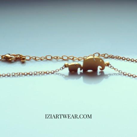 Słoniki naszyjnik