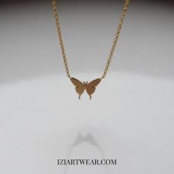Naszyjnik z zawieszką motyl pozłacany