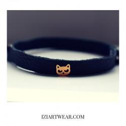Izi black cat choker bransoletka