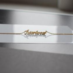 Naszyjnik  z Twoim napisem imieniem logiem